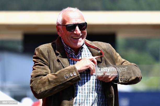 Dietrich Mateschitz Red Bull owner walks in the Paddock before the Formula One Grand Prix of Austria at Red Bull Ring on July 1 2018 in Spielberg...