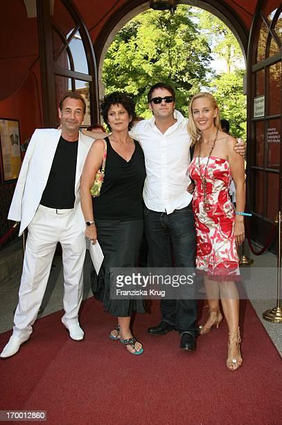Dietrich Siegl Mona Seefried Bruno Eyron And Lilian Klebow When receiving Bavaria At Munich Film Festival in Park Bavaria Film in Munich