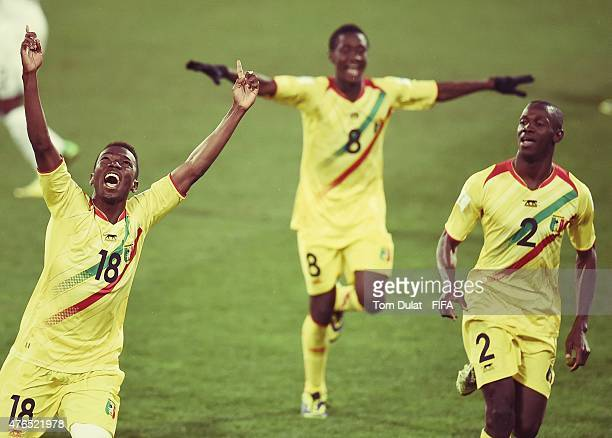 Dieudonne Gbakle of Mali celebtates his goal during the FIFA U20 World Cup New Zealand 2015 Round of 16 match between Ghana and Mali at Wellington...