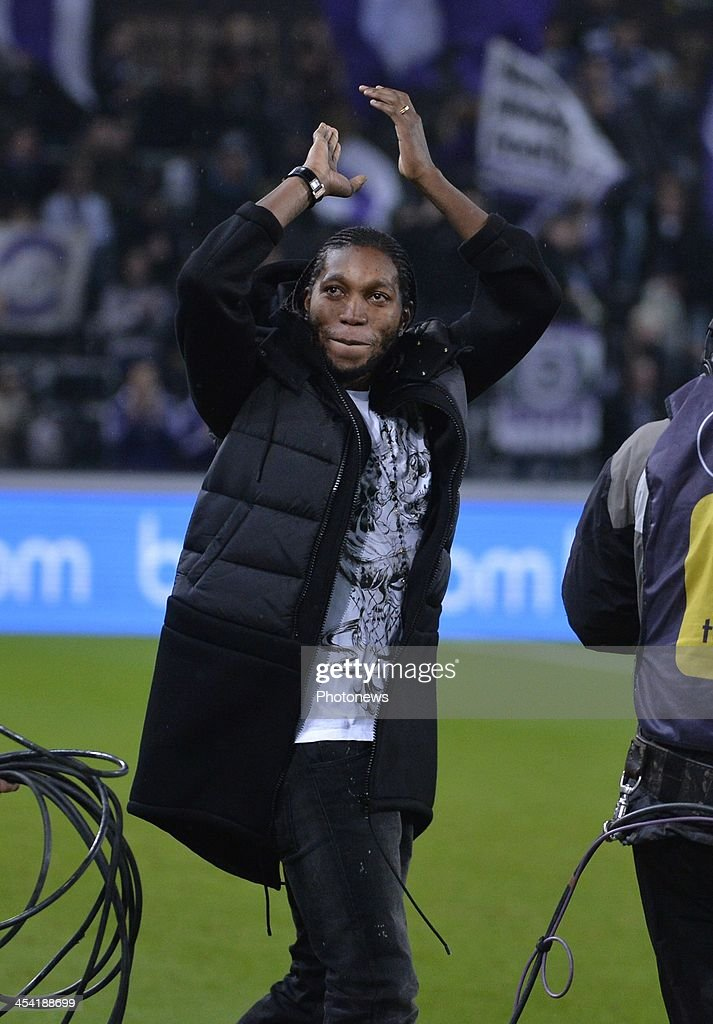 Dieumerci Mbokani during the Jupiler League match between RSC Anderlecht and Waasland Beveren on December 7, 2013 in Anderlecht, Belgium.
