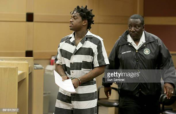 Dieuson Octave a popular rapper known as Kodak Black is sentenced to probation by Judge Lisa Porter in Ft Lauderdale Fla on August 16 2016 He was...