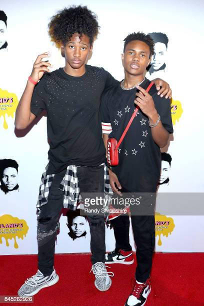 Diezel Braxton and Kailand Morris attend Kailand's Swaggy 16th birthday party at Belasco Theatre on September 9 2017 in Los Angeles California