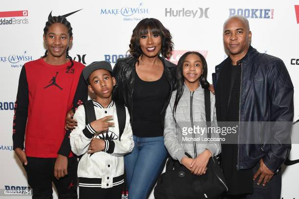 Diezel Braxton, Braxton Montelus Carter, Towanda Braxton, Brooke Carter and Andre Carter pose backstage at the Rookie USA fashion show during New...