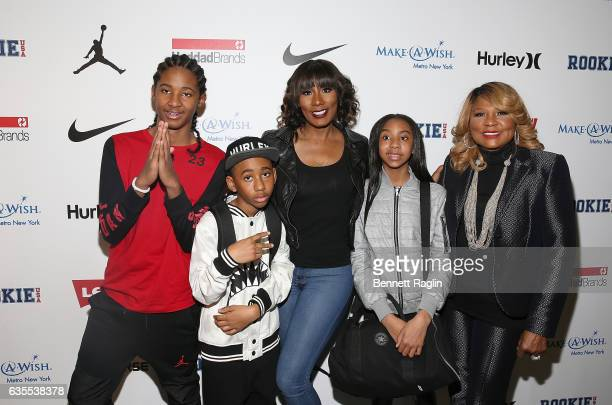 Diezel Braxton, Braxton Montelus Carter, Towanda Braxton, Brooke Carter and Evelyn Braxton attend the Rookie USA Fashion Show during New York Fashion...