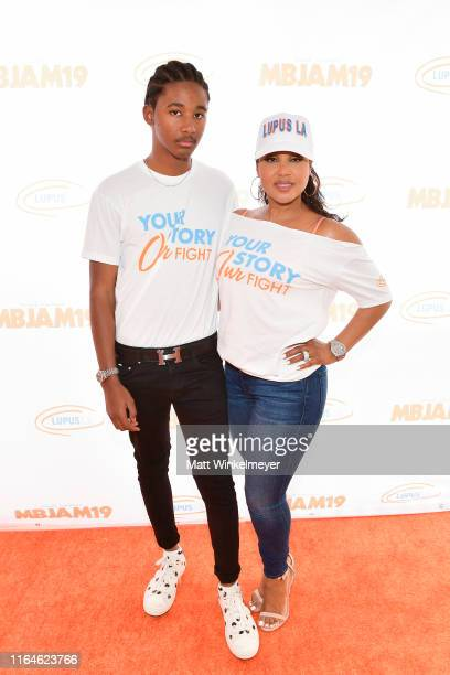 Diezel Ky BraxtonLewis and Toni Braxton attend the 3rd annual MBJAM19 presented by Michael B Jordan and Lupus LA at Dave Busters on July 27 2019 in...