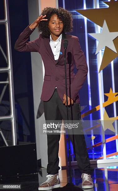 Diezel Ky Braxton-Lewis onstage at An Evening of Stars at Atlanta Civic Center on April 12, 2015 in Atlanta, Georgia.