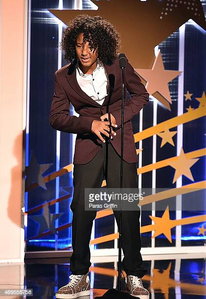 """Diezel Ky Braxton-Lewis onstage at the UNCF """"An Evening Of Stars"""" at Boisfeuillet Jones Atlanta Civic Center on April 12, 2015 in Atlanta, Georgia."""