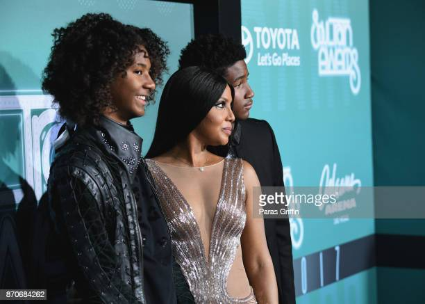 Diezel Ky BraxtonLewis Toni Braxton and Denim Cole BraxtonLewis attend the 2017 Soul Train Awards presented by BET at the Orleans Arena on November 5...
