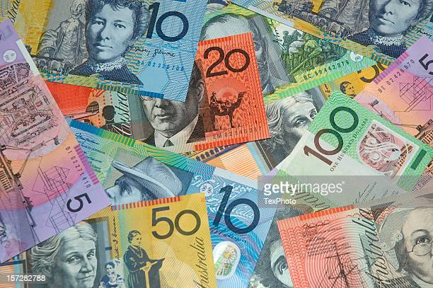Different amounts of Australian currency
