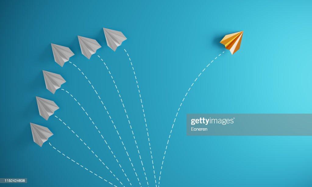 Verschillende benadering-verschillende richting : Stockfoto