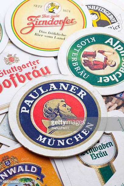 Different beer coasters