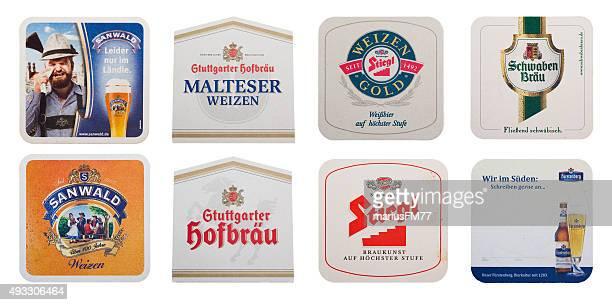 Verschiedene Bier coasters