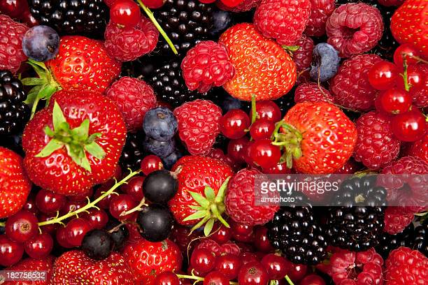different berries mixed