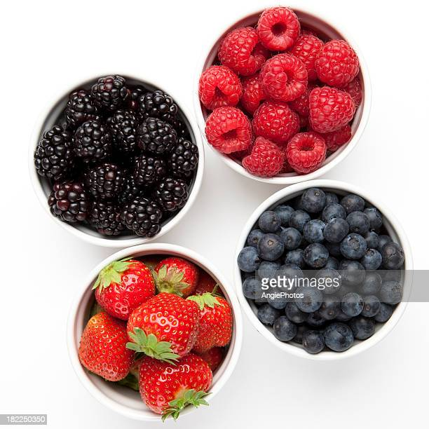 different berries - blackberry fruit stock pictures, royalty-free photos & images