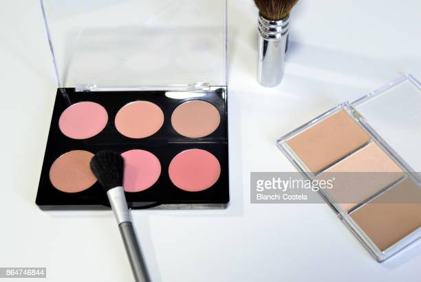Different blush and makeup bases