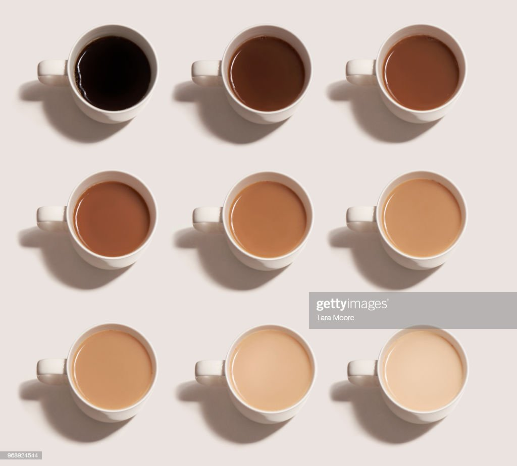 different choices of tea and coffee : Stock Photo