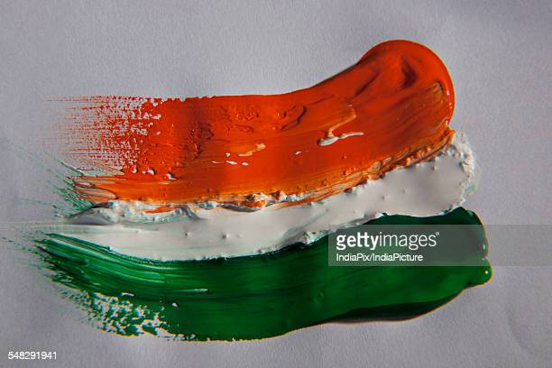 different coloured paints - indian flag stock pictures, royalty-free photos & images