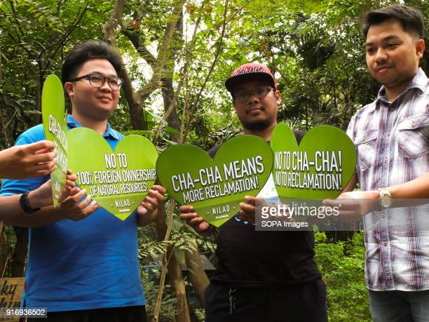 Different environmental groups holding their cut out heart shape placard to air their grievances The Green groups NILAD and the organizations under...