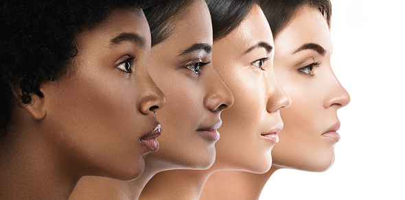 Different ethnicity women - Caucasian, African, Asian and Indian. 1189795103