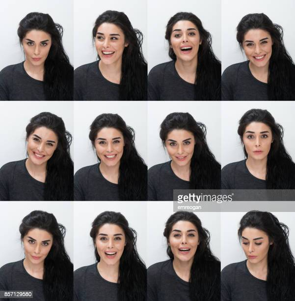 different facial expressions - part of a series stock pictures, royalty-free photos & images