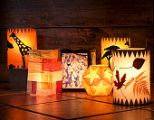 Different handmade lanterns