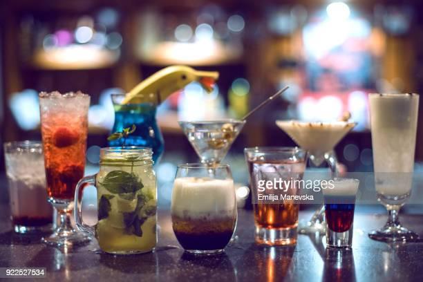 Different kind of cocktails