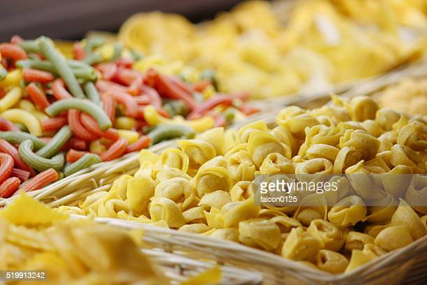Different kinds of pasta in italy