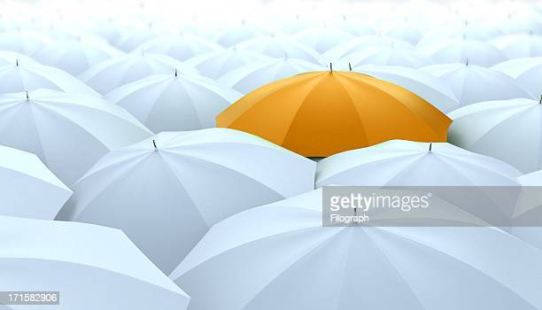 different, leader, best, unique and discrimination concept - umbrella stock pictures, royalty-free photos & images