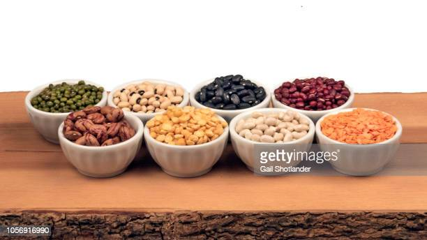 8 Different Legumes in Bowls