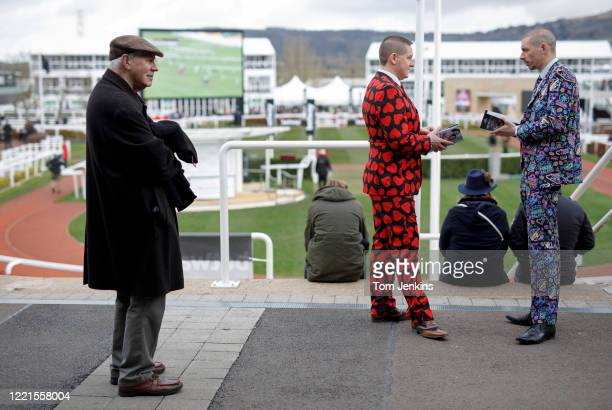 Different mens clothing during Ladies Day during day two of the Cheltenham National Hunt Racing Festival at Cheltenham Racecourse on March 11th 2020...