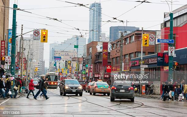 different scenes of toronto's chinatown or china town - chinatown stock pictures, royalty-free photos & images