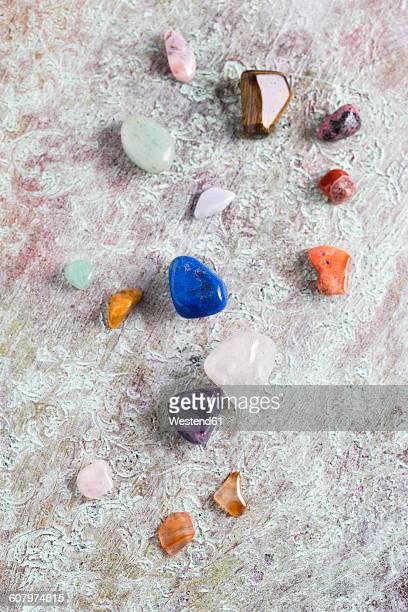 Different semiprecious stones