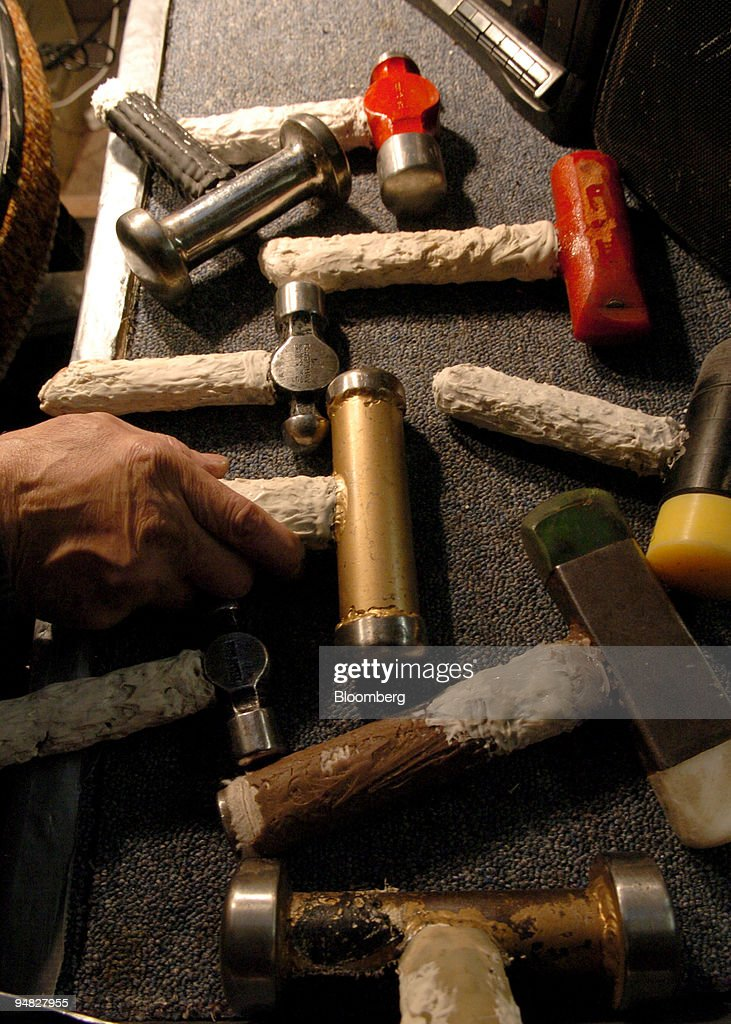 Different sizes of hammers are used by Ellie Mannette