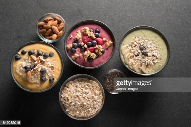 3 different Smoothie Bowl's.