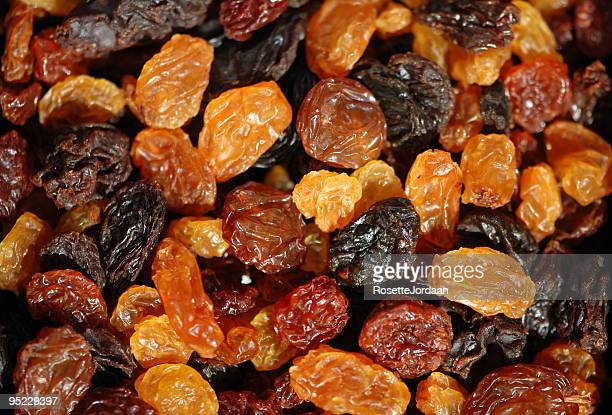 Different sorts of sundried Raisins