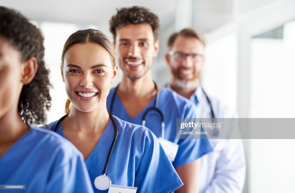 Different specialties with the same goal : Stock Photo