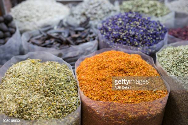 Different spices in Dubai (Dubai souk, United Arab Emirates)