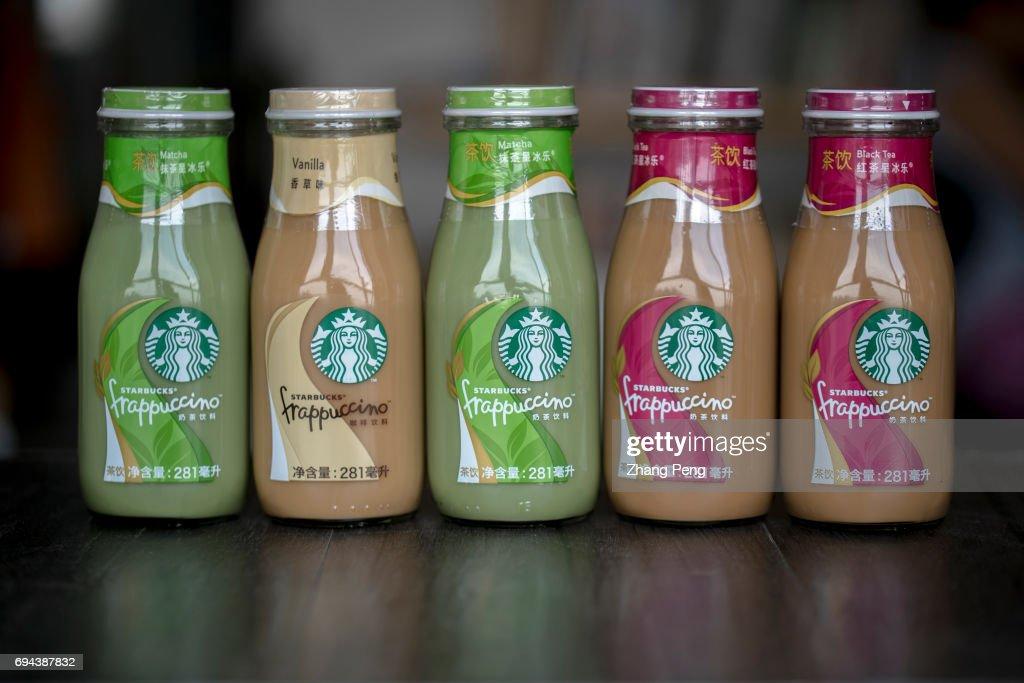 Different Tastes Of Starbucks Bottled Frappuccino Arranged