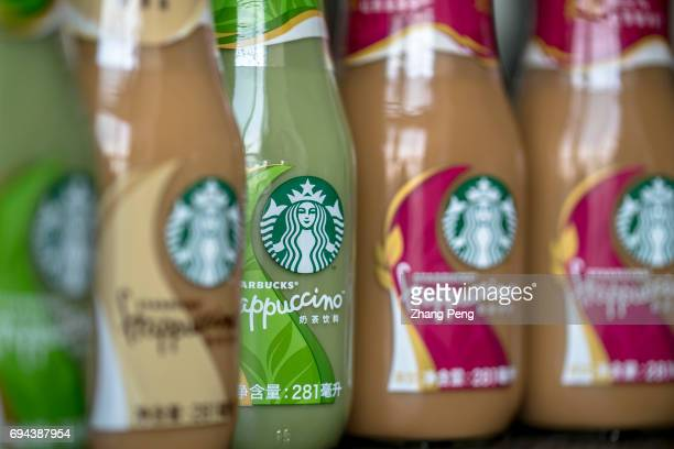 Different tastes of Starbucks bottled Frappuccino arranged for photography In the first quarter of 2017 targeting to the Chinese consumers Starbucks...