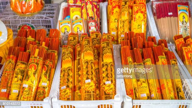different type of incense for sell at maharaj market - incense stock photos and pictures
