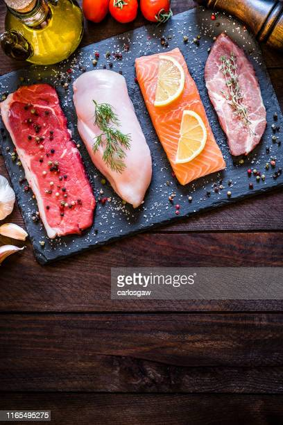 different types of animal protein - seafood stock pictures, royalty-free photos & images