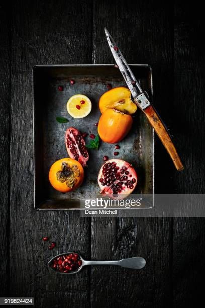 Different types of cut fruits on a tray