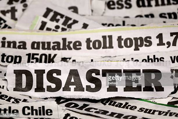 Different types of disaster headlines