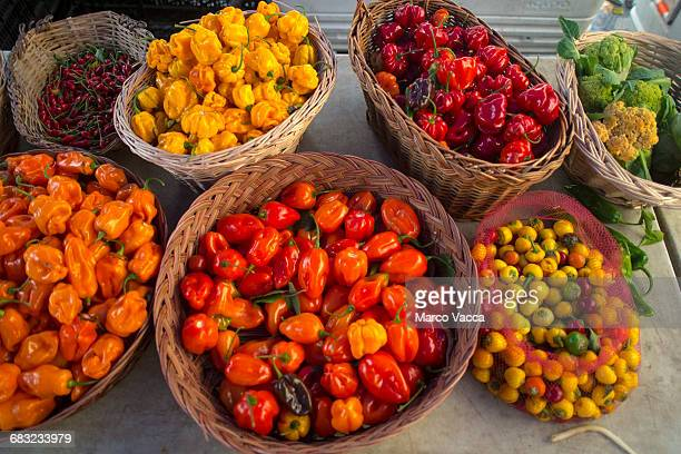 different types of hot peppers
