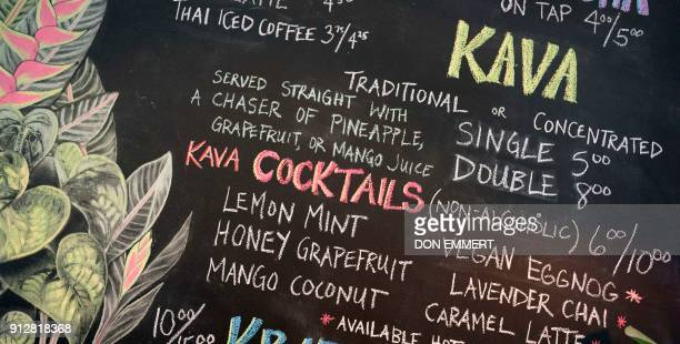Different types of Kava are listed on the menu at Brooklyn Kava January 18 2018 in New York It's been a mainstay in the South Pacific for thousands...