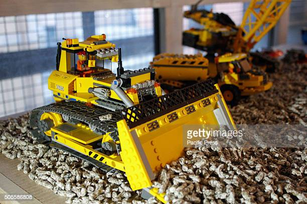 Different varieties of big machines during modeling exhibition at Grugliasco near Torino a weekend dedicated to the static and dynamic modeling with...