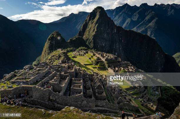 Different views of Machu Picchu, Peru's most important tourist destination and one of the 7 Wonders. Built most probably by Inca Chapacutec in the...