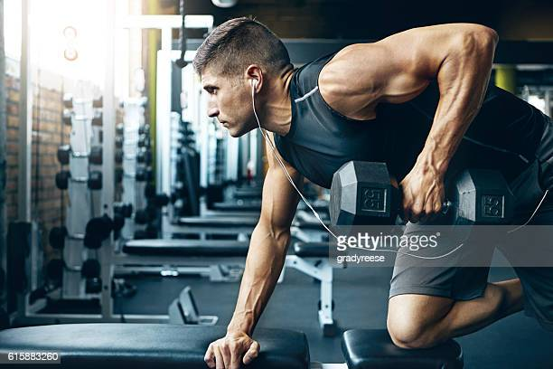 difficult doesn't mean impossible! - bodybuilding stockfoto's en -beelden