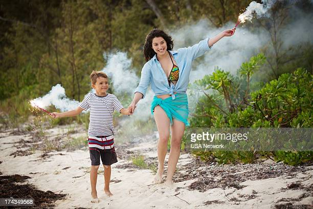 AFFAIRS 'Dig For Fire' Episode 402 Pictured Bryn Walker as Young Teo Braga Marcela Garzaro as Ana Sofia