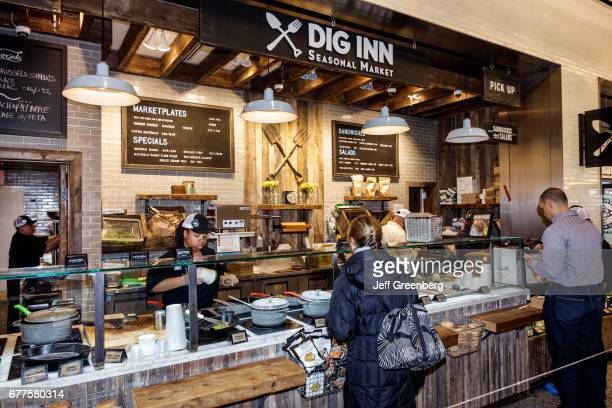 Dig Inn Seasonal Market counter in a shopping center at Brookfield Place